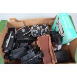 A Zeiss Ikon Kinamo and Other Cine Cameras, a Kinamo S10 16mm camera, four Bolex B8 and C8 8mm