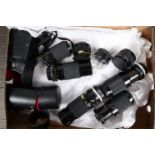 Tamron Zoom Lenses, f/3.8 80-210mm (4), f/3.5 70-150mm (1), prime f/2.5 28mm (1) and 2x