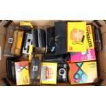 A Tray of Kodak Intamatic and Disc Cameras, an Instamatic X-90, X-30,100, all in maker's boxes, G, A