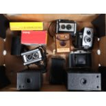 Folding and Box Cameras, comprising a Kodak 66 Model III folding camera, a Coronet folding camera,