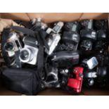 A Tray of Digital Cameras, including a Fujifilm Finepix S2 Pro body, body G, untested, four Nikon