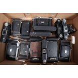 A Tray of Kodak Folding Cameras, models include Six-20, Sterling II, Six 20 B, Six 20 Junior and