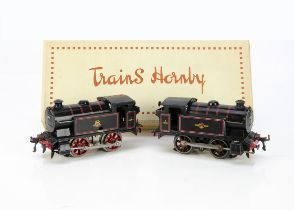 Two converted Hornby 0 Gauge No 40 Tank Locomotives, both fitted with pre-war 20v electric
