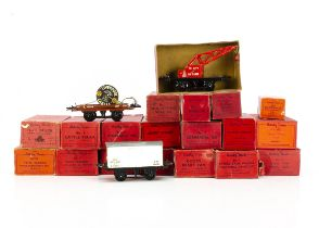 Hornby 0 Gauge post-war No 1 Freight Stock, comprising Shell Oil, Esso, National Benzole and