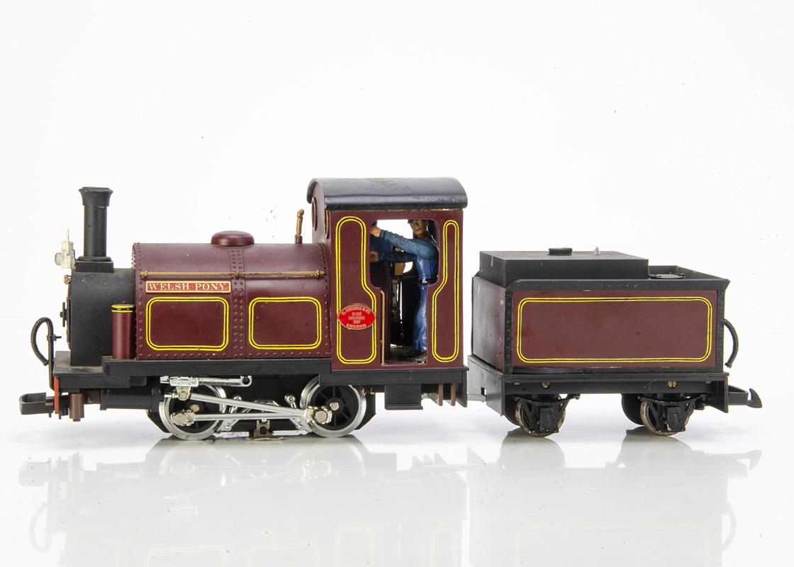 Scratchbuilt/Kitbuilt modified G Gauge 0-4-0 G England & Co Saddle Tank Locomotive and Tender with