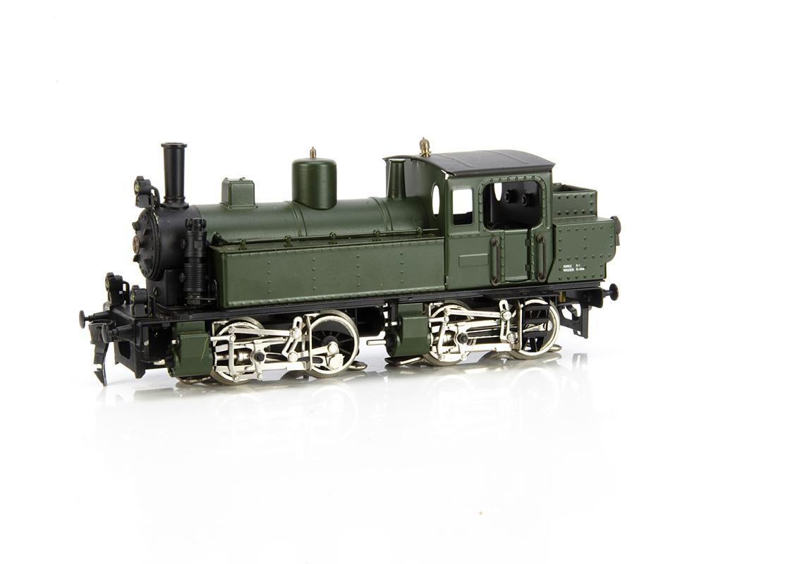 An ETS 0 Gauge 2/3-rail (convertible) 'Mallet' type 0-4-4-0 Tank Locomotive, ref 141, in unlined