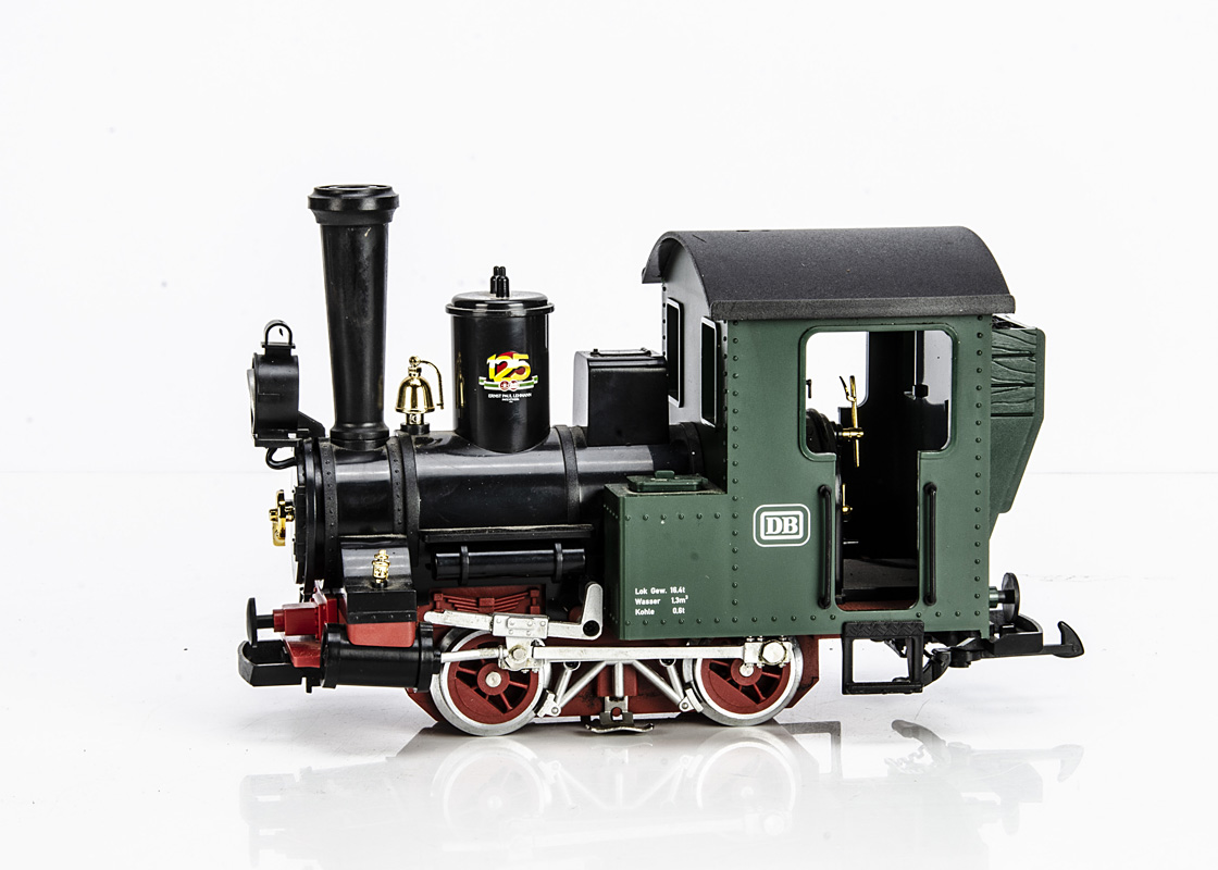 LGB G Gauge 90125 0-4-0 125th Anniversary Tank Engine, in DB green and black, G-VG
