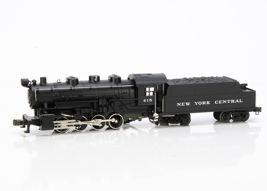 Rail King by MTH 0 Gauge New York Central 0-8-0 Locomotive and Tender, in black No 415 with Proto