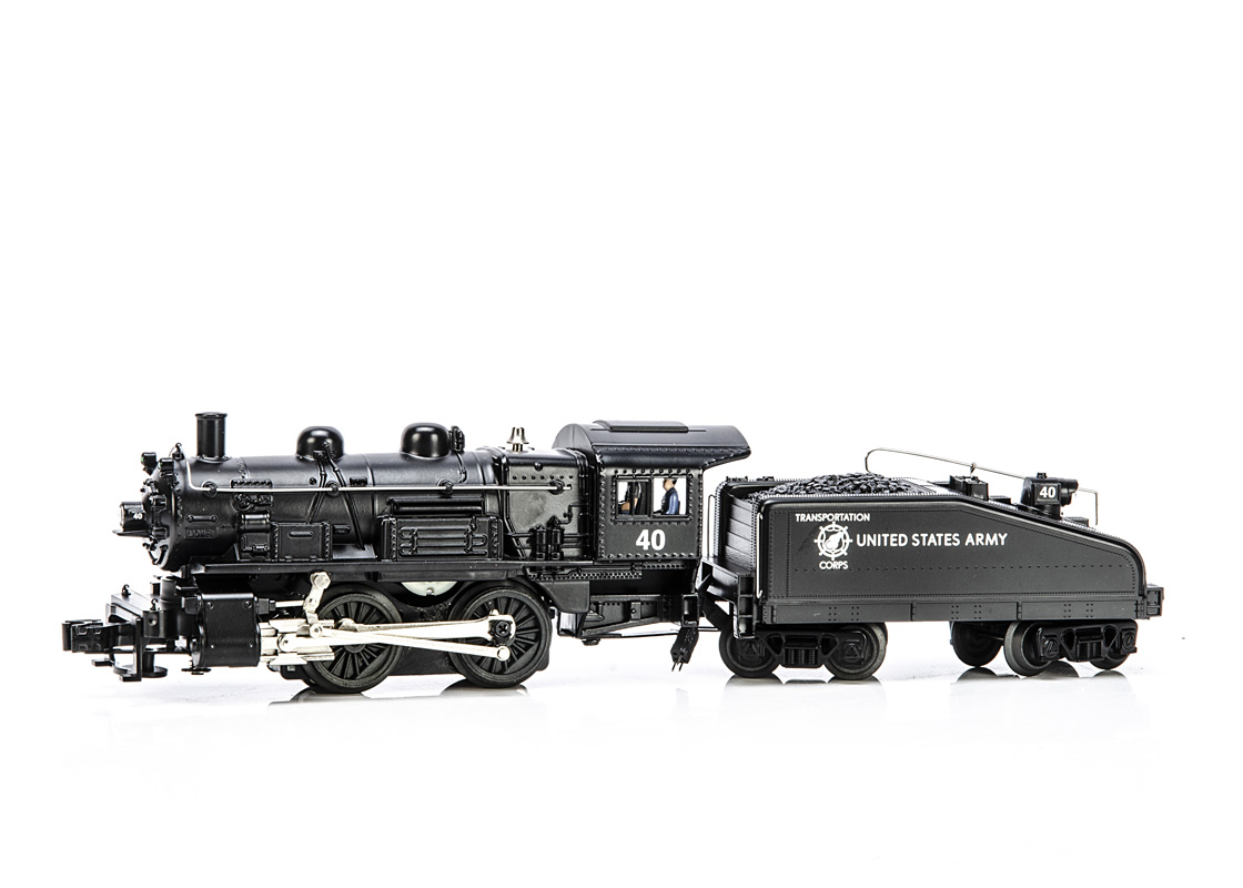 Lionel 0 Gauge 6-28679 Army Transportation Corps 0-4-0 Locomotive and Tender, in black No 40, in