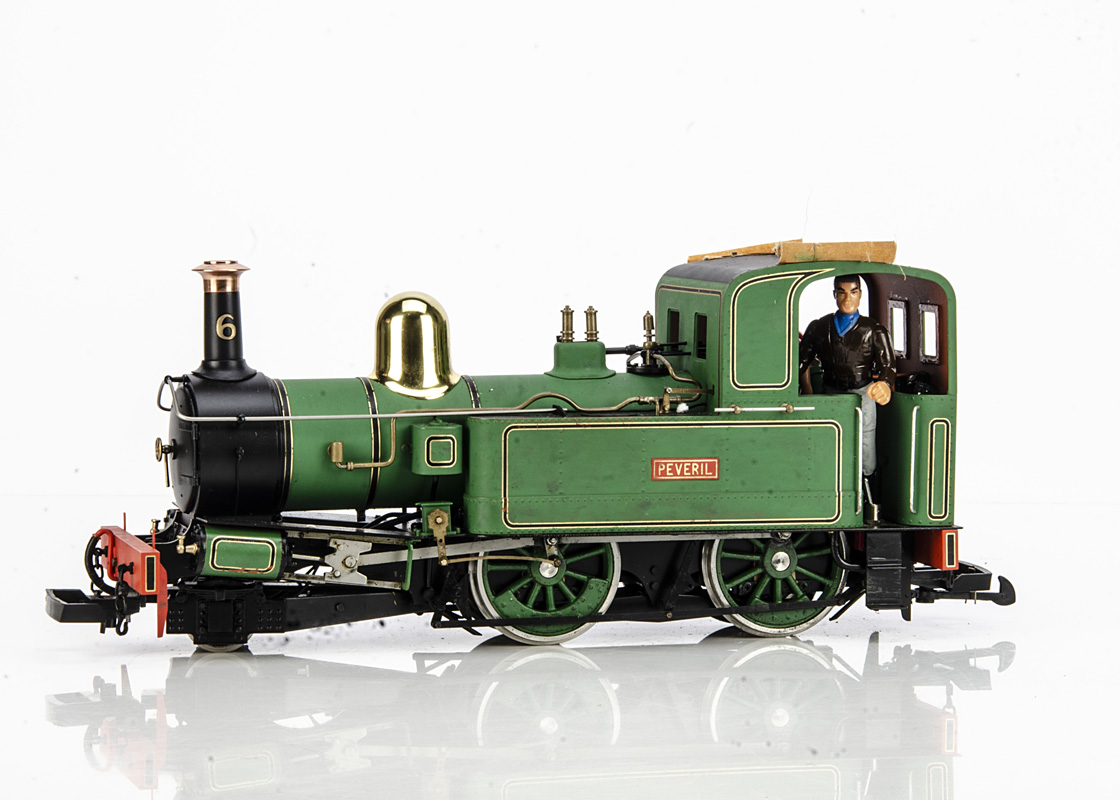 Accucraft UK Ltd 011 Isle of Man Beyer Peacock 2-4-0 Tank Locomotive, modified and repainted green