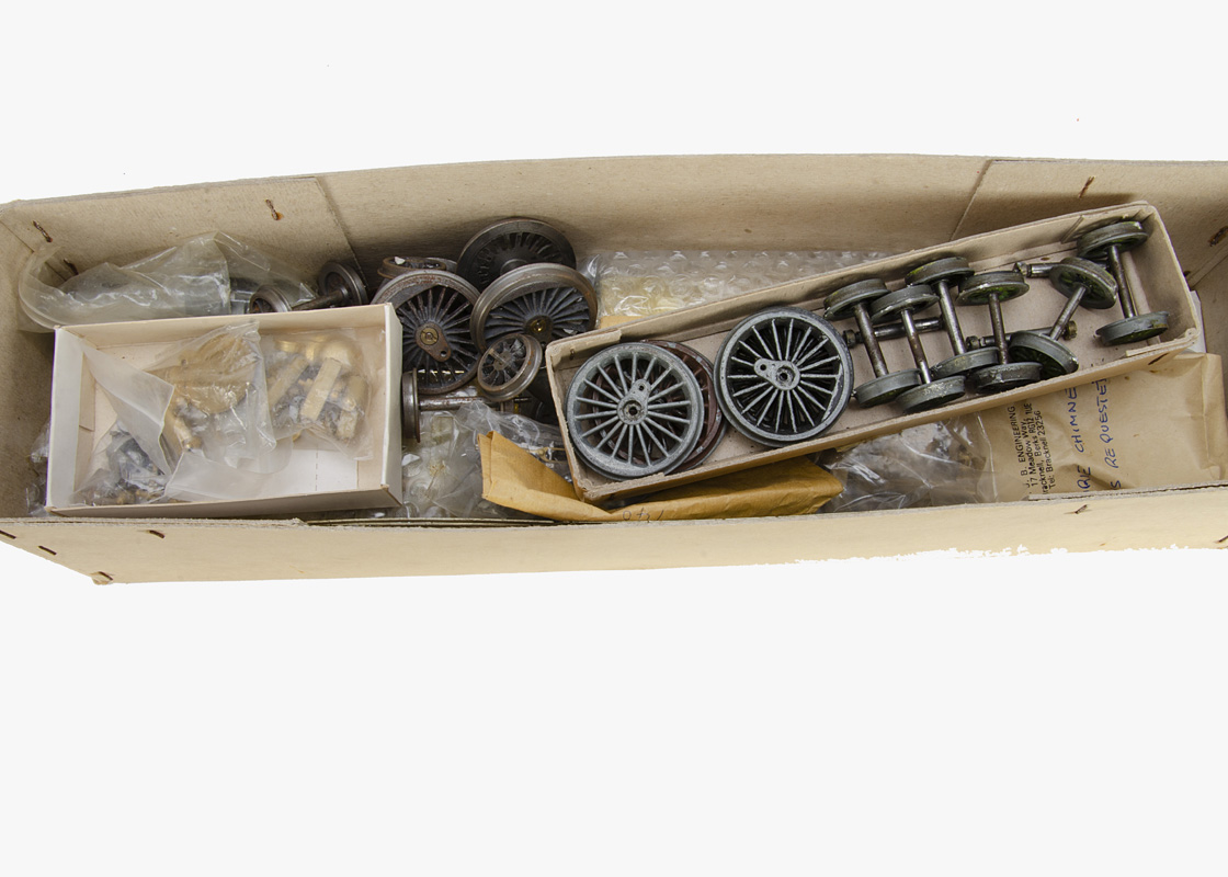 An unmade 0 Gauge SR 4-6-0 'King Arthur' and tender kit by DJB Engineering, totally unmade but