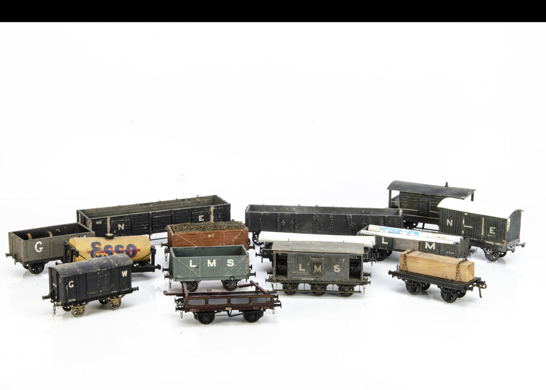 Wood-built 0 Gauge Freight Stock, most with detailed/relief construction and some possibly by Milbro