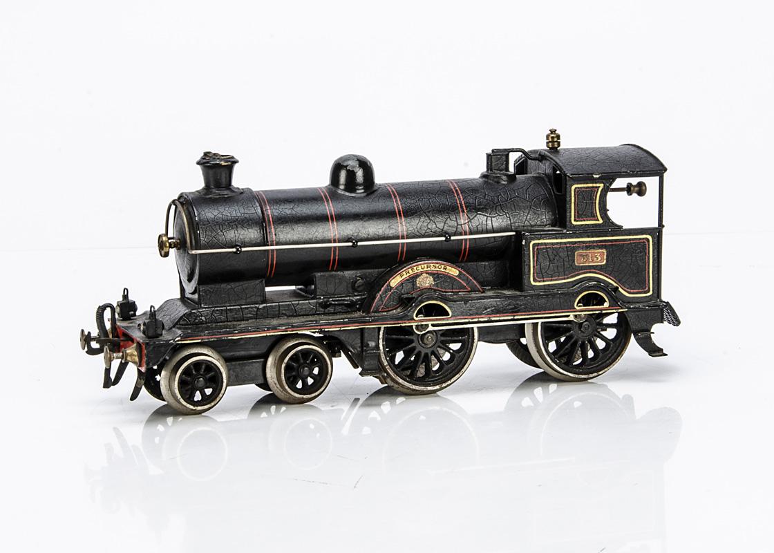 A Bing for Bassett-Lowke gauge 1 LNWR 'Precursor' clockwork 4-4-0 Locomotive only, in LNWR lined