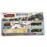 K-Line 0 Gauge incomplete Iron Horse 'Complete' Layout, comprising Box Car, Gondolas (2), Caboose,