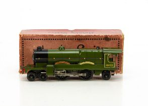 A Hornby 0 Gauge No 3E 6-volt AC 'Flying Scotsman' Locomotive only, an early example with external