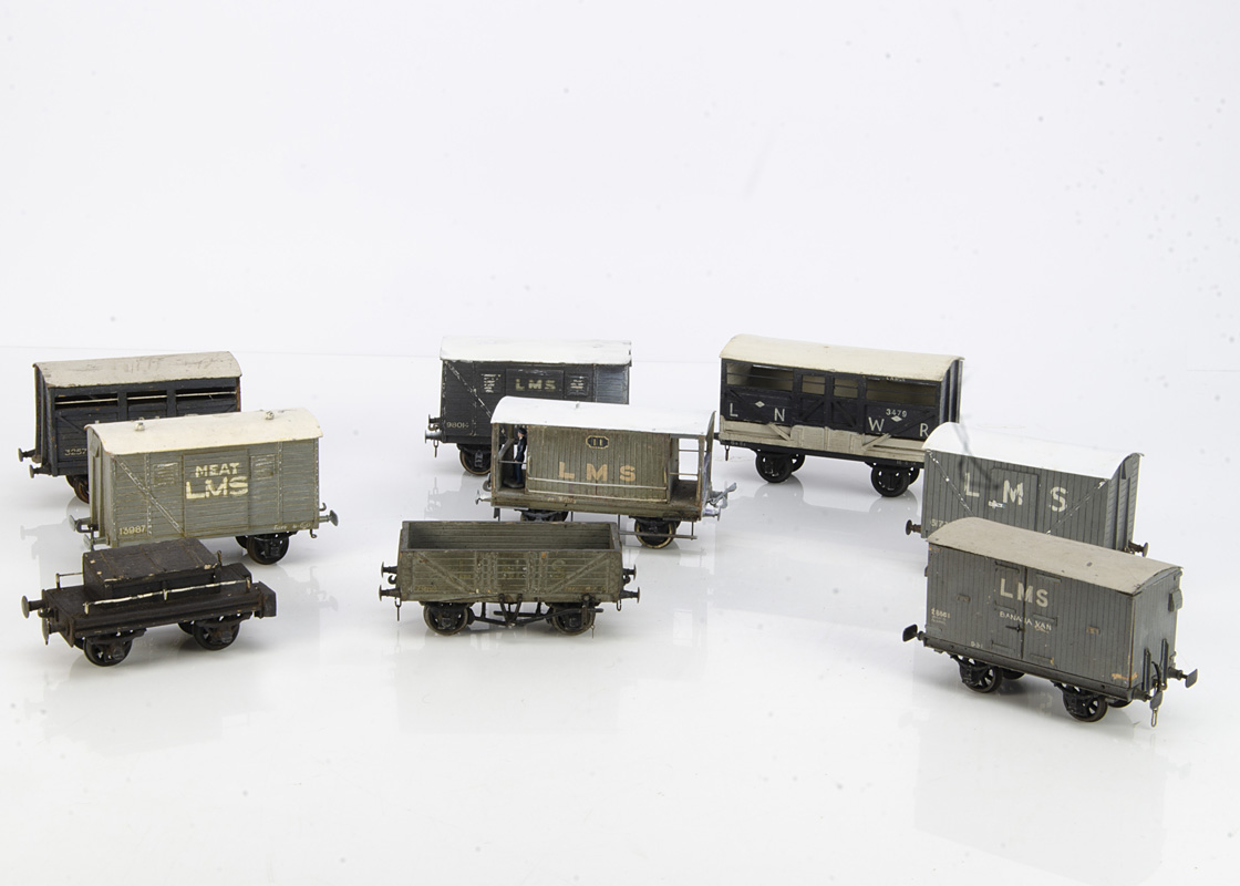 Wood-built 0 Gauge Freight Stock, all with detailed/relief construction and most believed to be by