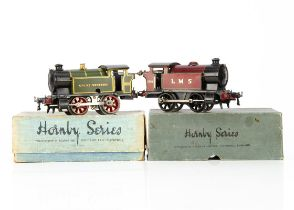 Two boxed Hornby 0 Gauge M3 Tank Locomotives, both in lithographed finishes, one in LMS crimson as