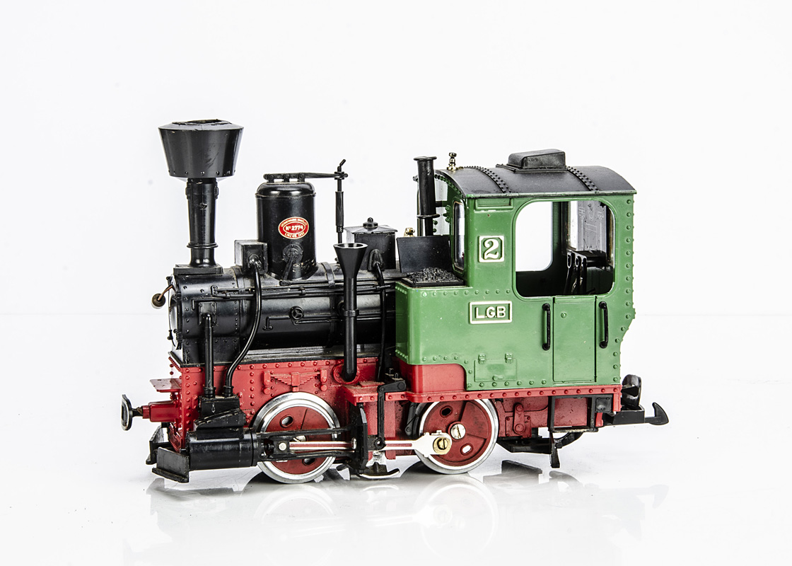 LGB G Gauge 2020 0-4-0 Tank Engine, in green, red and black, LGB No 2