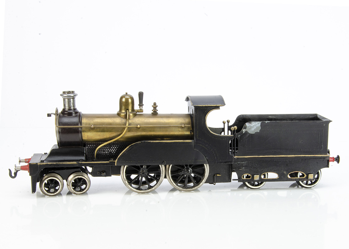 """A 'restored' Bing Gauge 2 (2"""") live steam L&YR 'Aspinall-style' nominal 4-4-0 Locomotive and Tender,"""