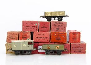 Hornby 0 Gauge GWR 4-wheel Freight Stock, mostly in original or similar boxes, including four