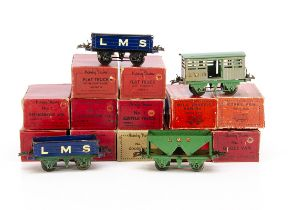 Hornby 0 Gauge LMS 4-wheeled Freight Stock, a dozen in original or similar boxes, including 4