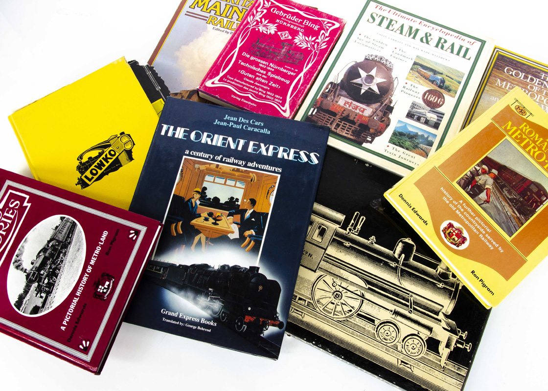Railway and Model Train Related Volumes, a small group including A Century of Model Trains by
