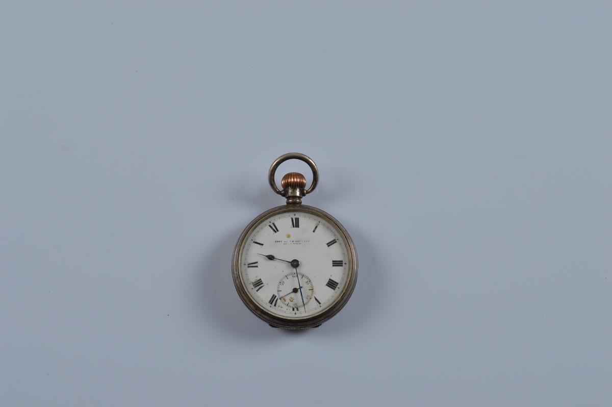 A silver open face pocket watch, Birmingham, 1938, ALD. 90g