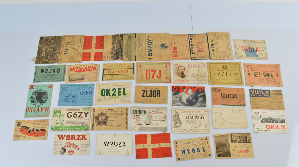A collection of early 20th Century Russian, American, German and Polish decorative HAM Radio and