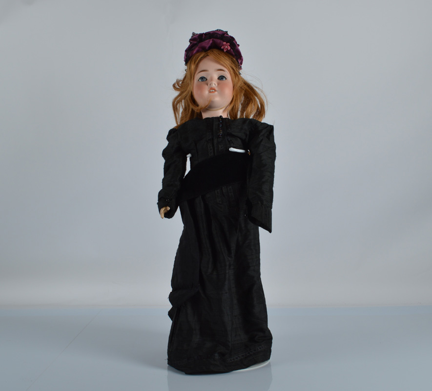 A Kley and Hahn Special Dollar Princess child doll, with blue sleeping eyes, blonde hair wig,
