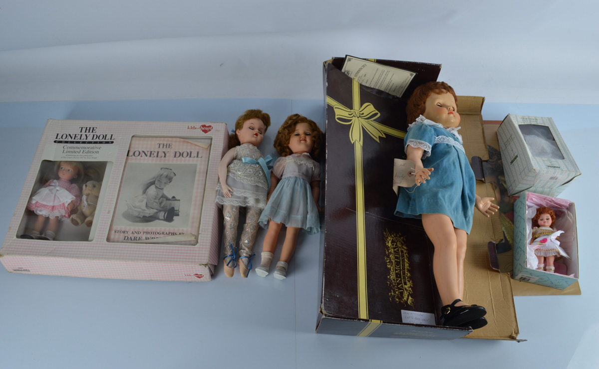 A boxed Kids at Heart The Lonely Doll Collection Commemorative Limited Edition child doll,