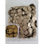 A very large collection of post 1947 British silver coinage, including half crowns, florins,