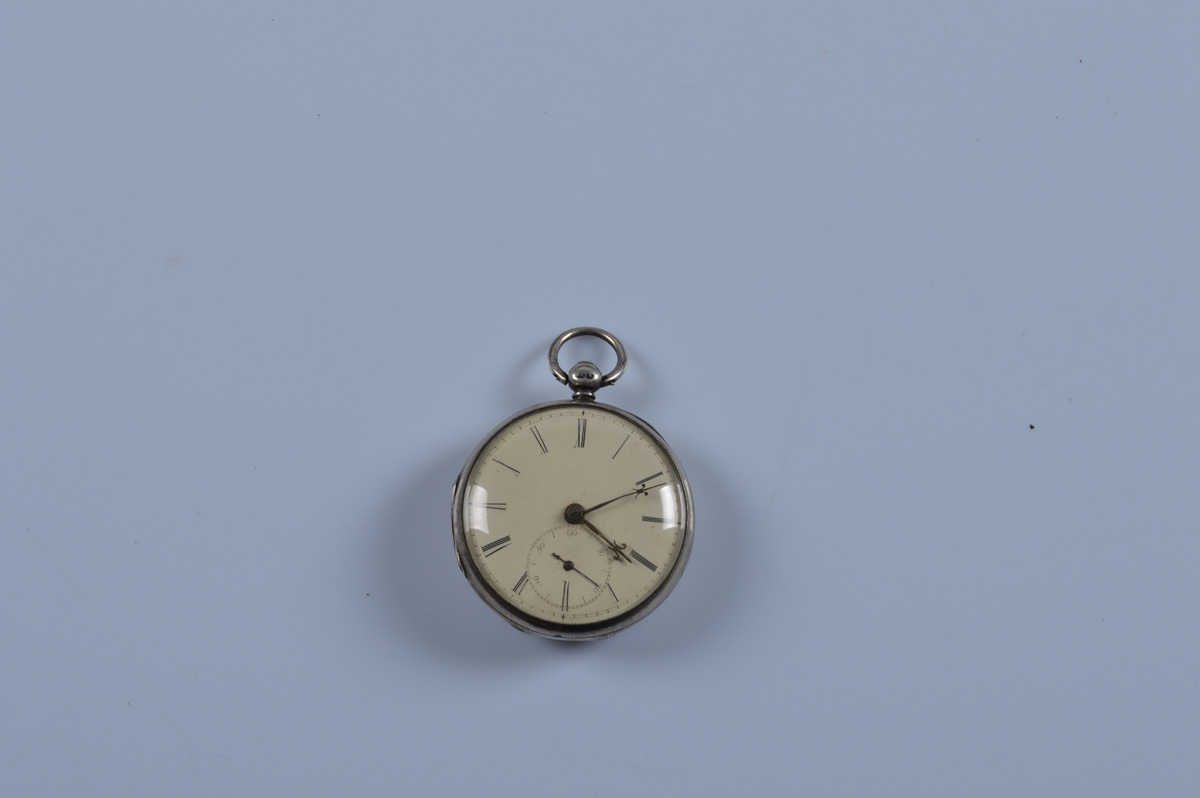 A Victorian silver open faced pocket watch, Birmingham, 1949, JW. 91.5g