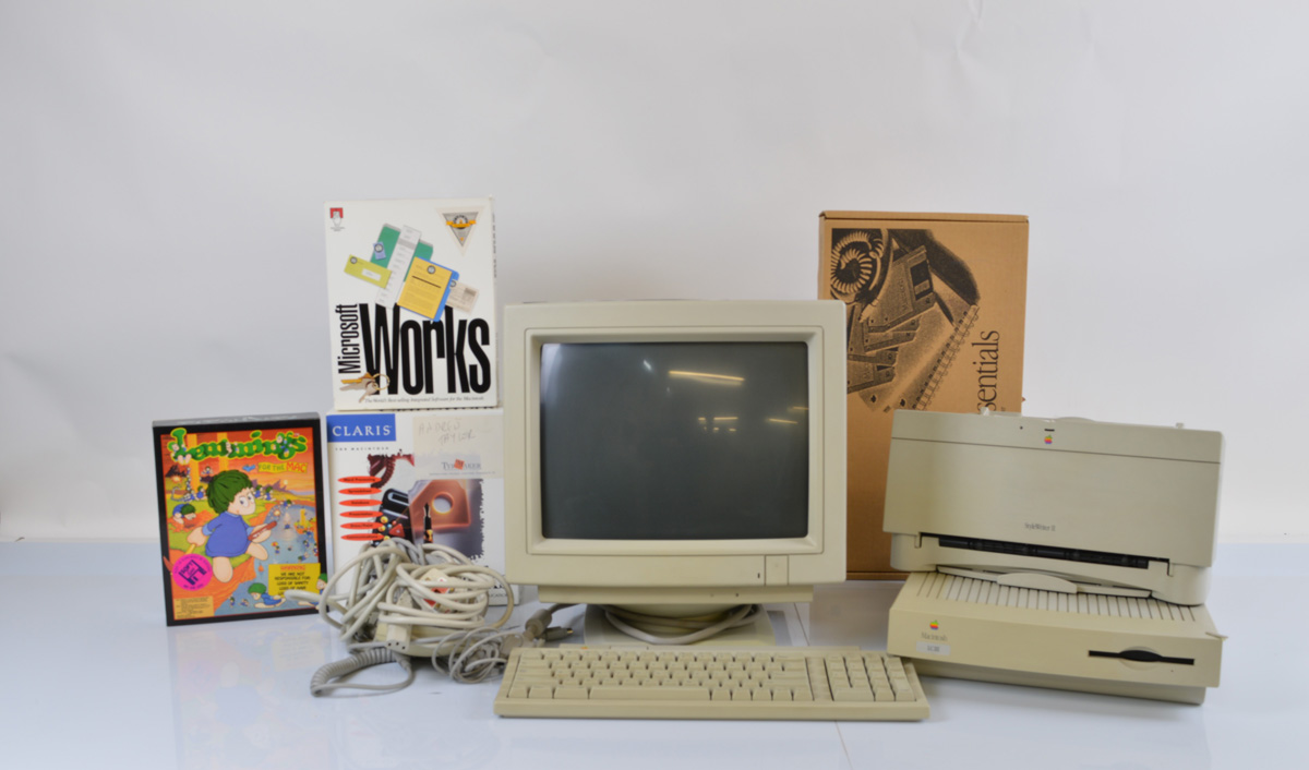 An Apple Macintosh Computer Style Writer II Printer and software, LCIII, 1993 date, comprising Apple