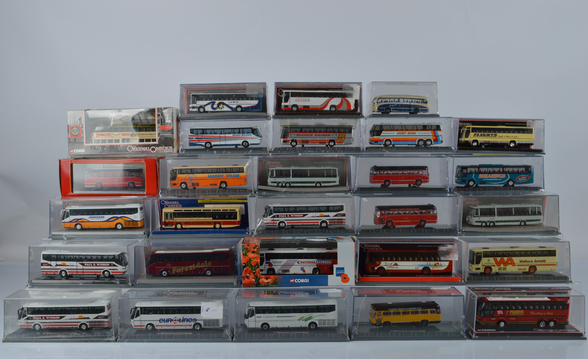 Twenty Eight Corgi Original Omnibus models, including limited editions, all cased. Together with two