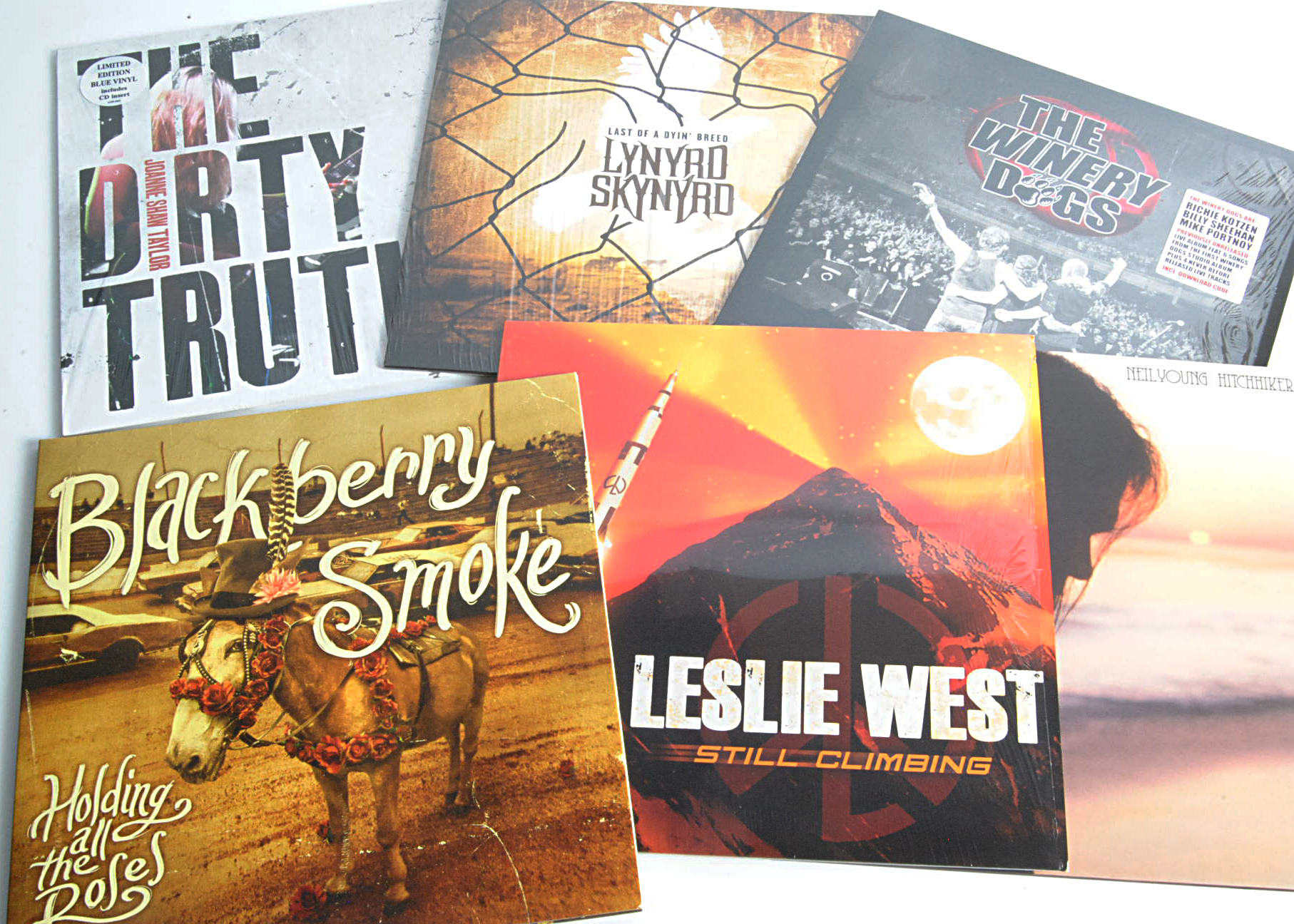 Classic Rock LPs, six more recent album releases of mainly Classic and Heavy Rock comprising The