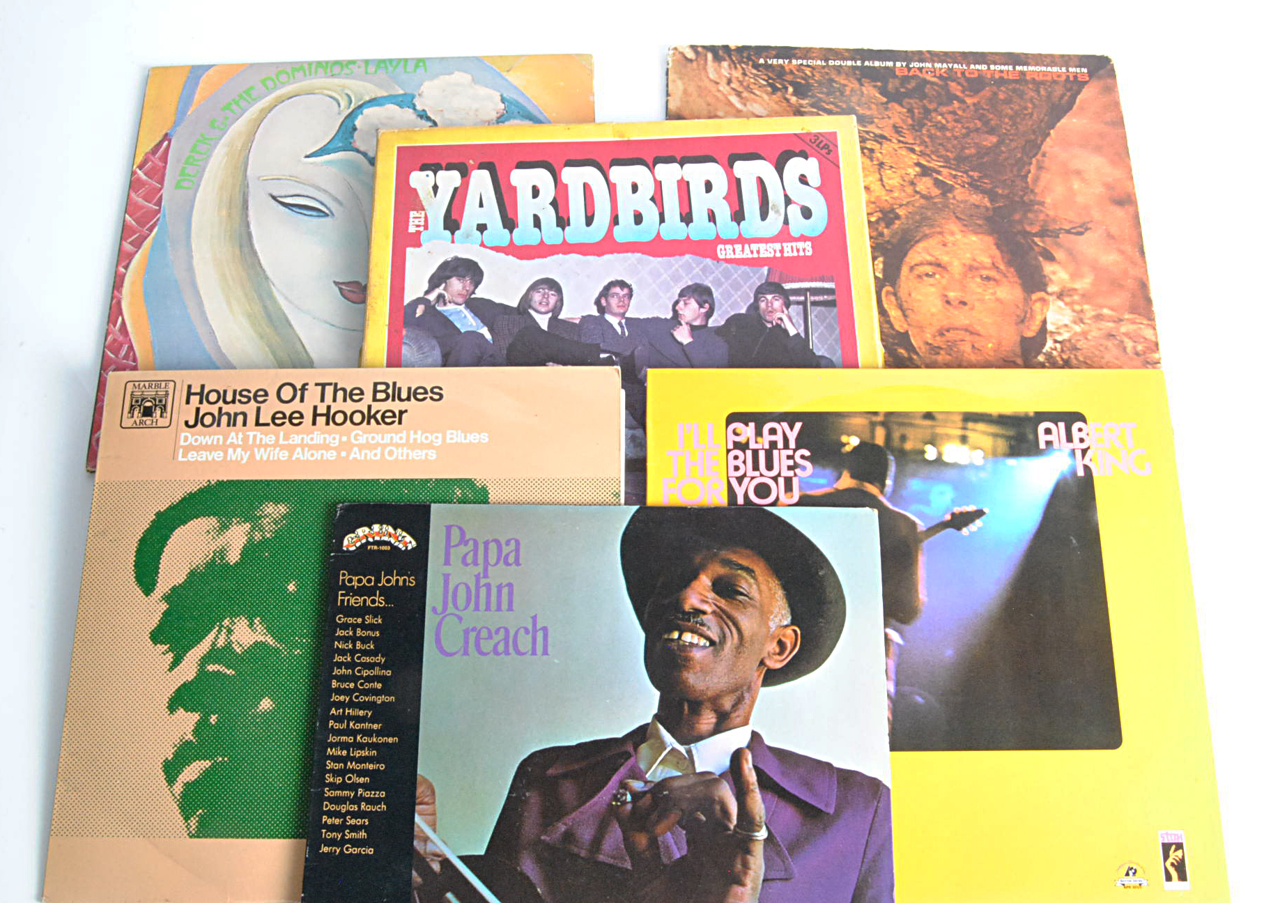 Blues LPs / Box Set, twelve albums and a Box Set of mainly Blues / Blues Rock with artists