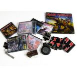 Iron Maiden Memorabilia, a collection of items comprising eight coasters (all with different album
