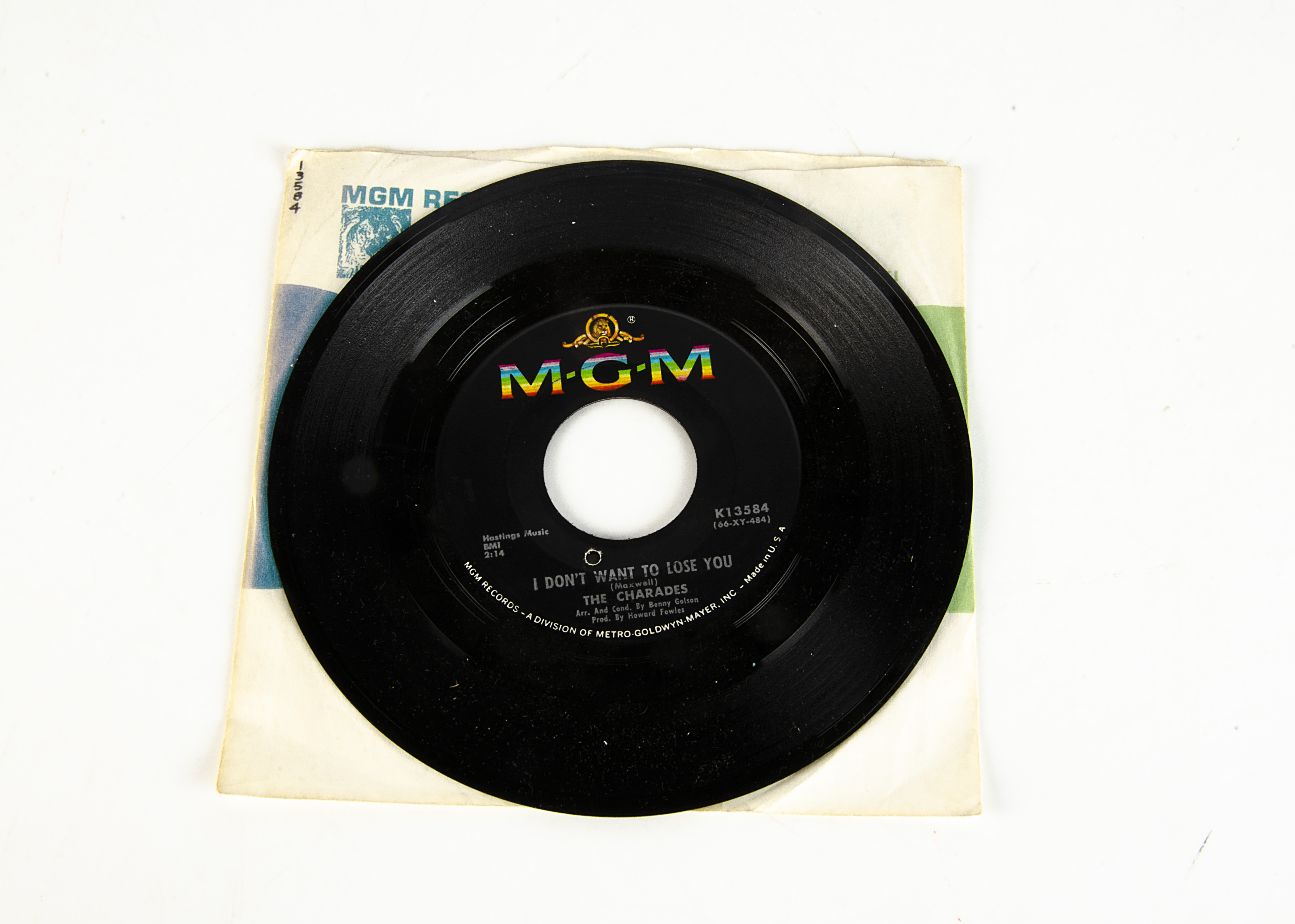 """The Charades 7"""" Single, I Don't Want To Lose You 7"""" Single b/w Never Set Me Free - USA release - Image 2 of 2"""