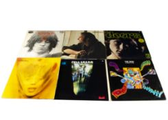 Sixties LPs, approximately eighty albums of mainly Sixties artists including The Who, The Doors,
