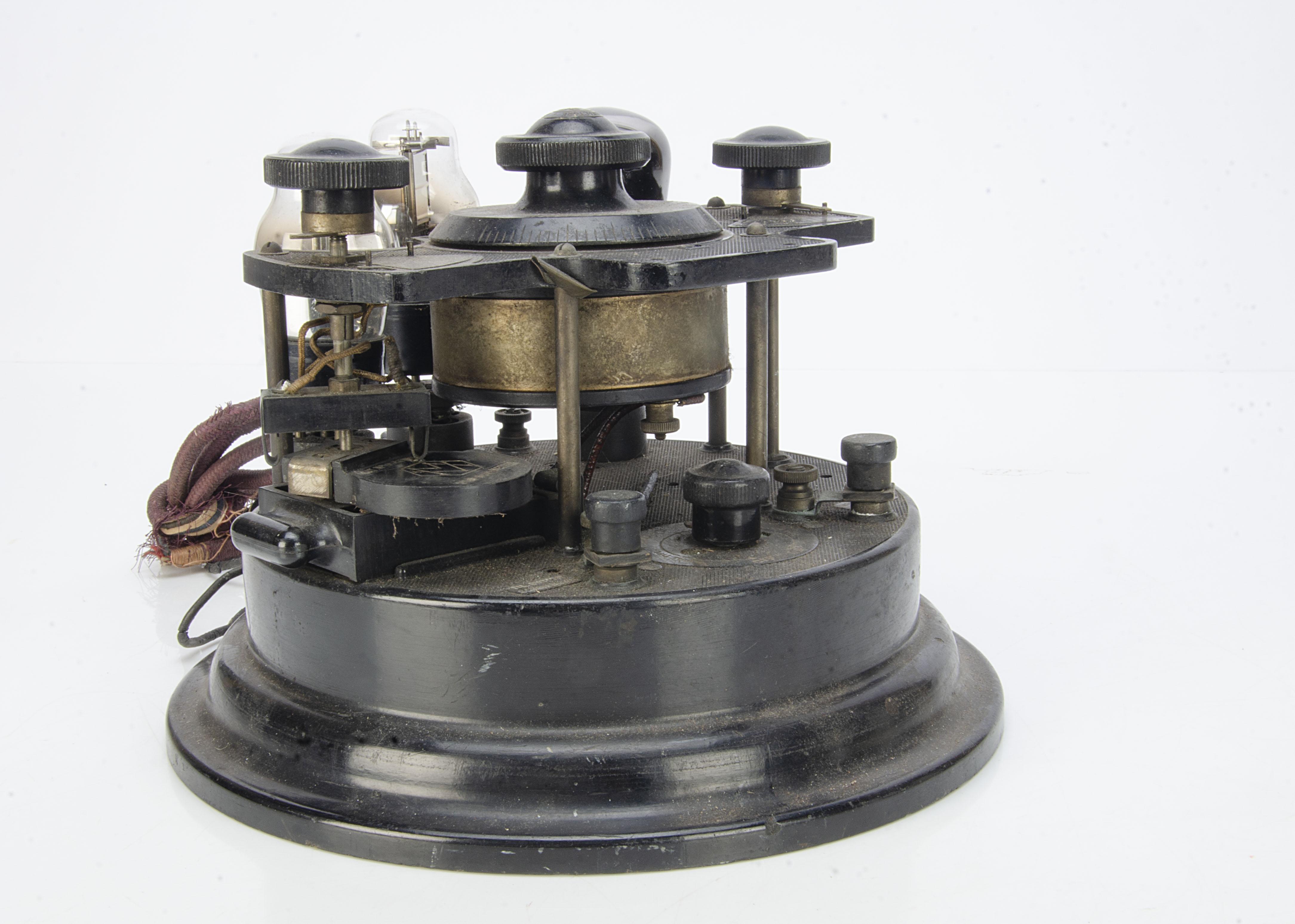 Cosmos Radiophone VR4, a Cosmos Radiophone VR4 'Cruet Set' 3 valve wireless receiver CAT No:89591 - Image 2 of 3