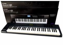 Axiom Keyboard, an Axiom 61 Keyboard M-audio USB semi-weighted midi-controller in original box, no