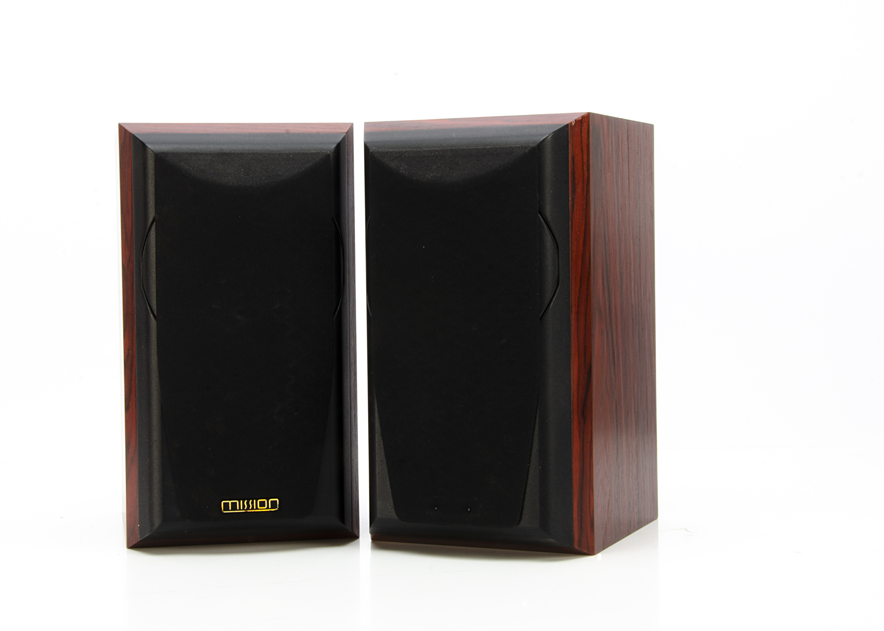 Mission Speakers, a pair of Mission Speakers 771 rosewood 2 way reflex, bookshelf size, generally