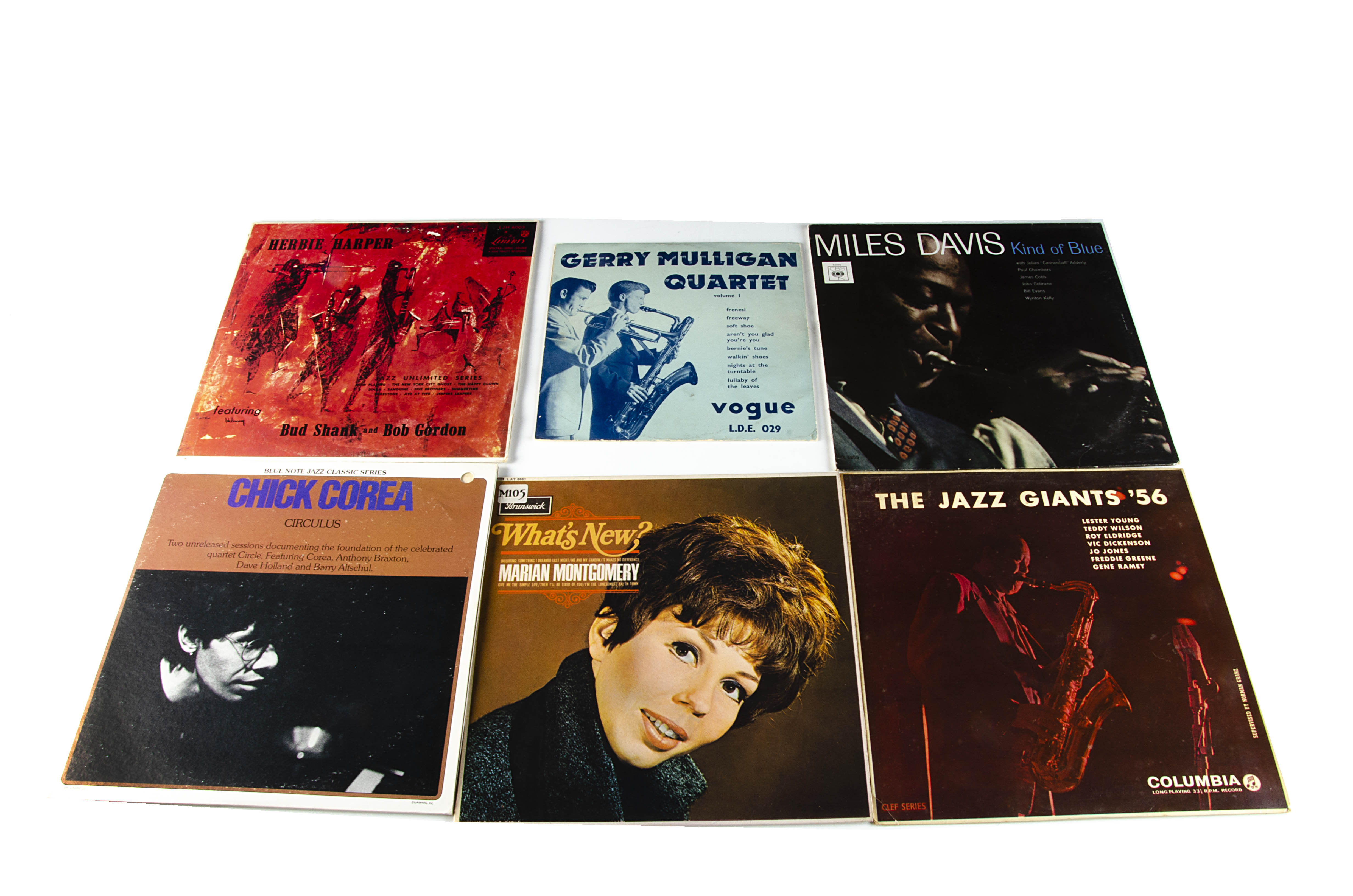 Jazz LPs, approximately fifty-five albums of mainly Jazz with artists including Miles Davis,