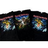 Iron Maiden Eddie 'T' Shirts, three Iron Maiden 'T' shirts - I Tried to tackle Eddie at