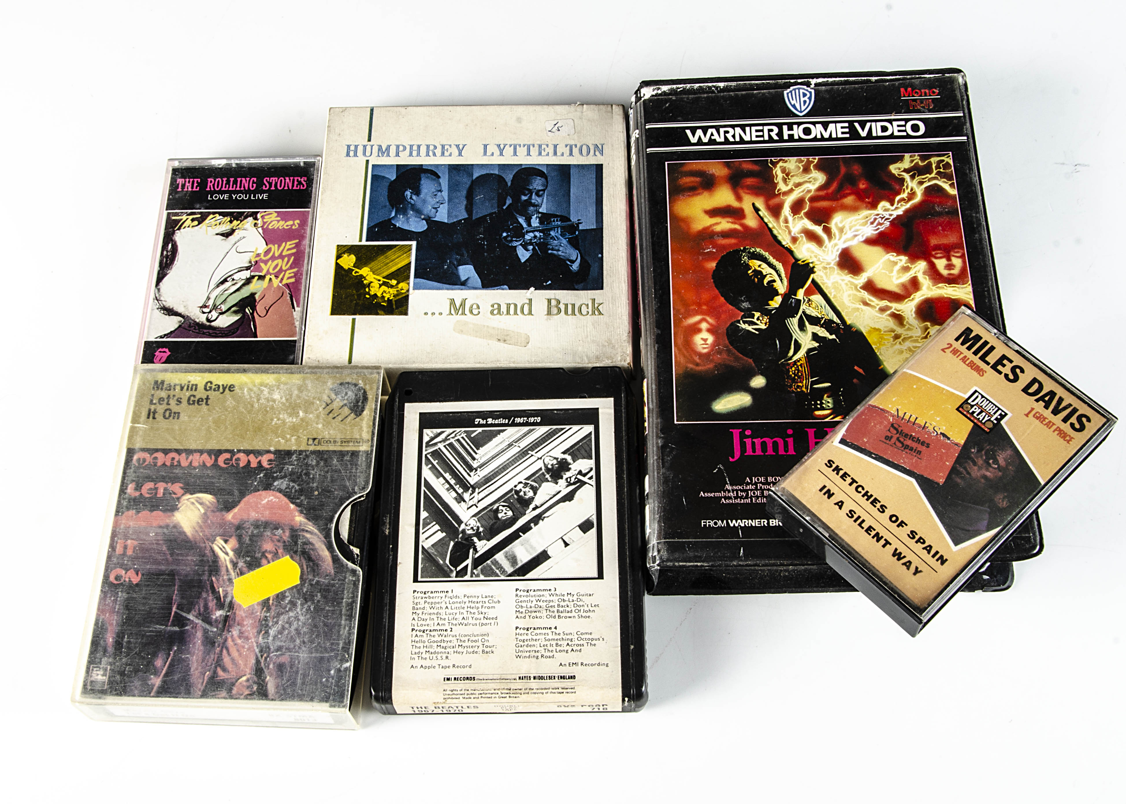 Music Videos / Tapes, a large collection of Music Videos (21), Cassettes (28), Reel to Reels (6 )