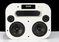 Blue Tooth Speaker, Exibel Wood 8L BTX/BX 800 blue tooth speaker, white in reasonable, missing