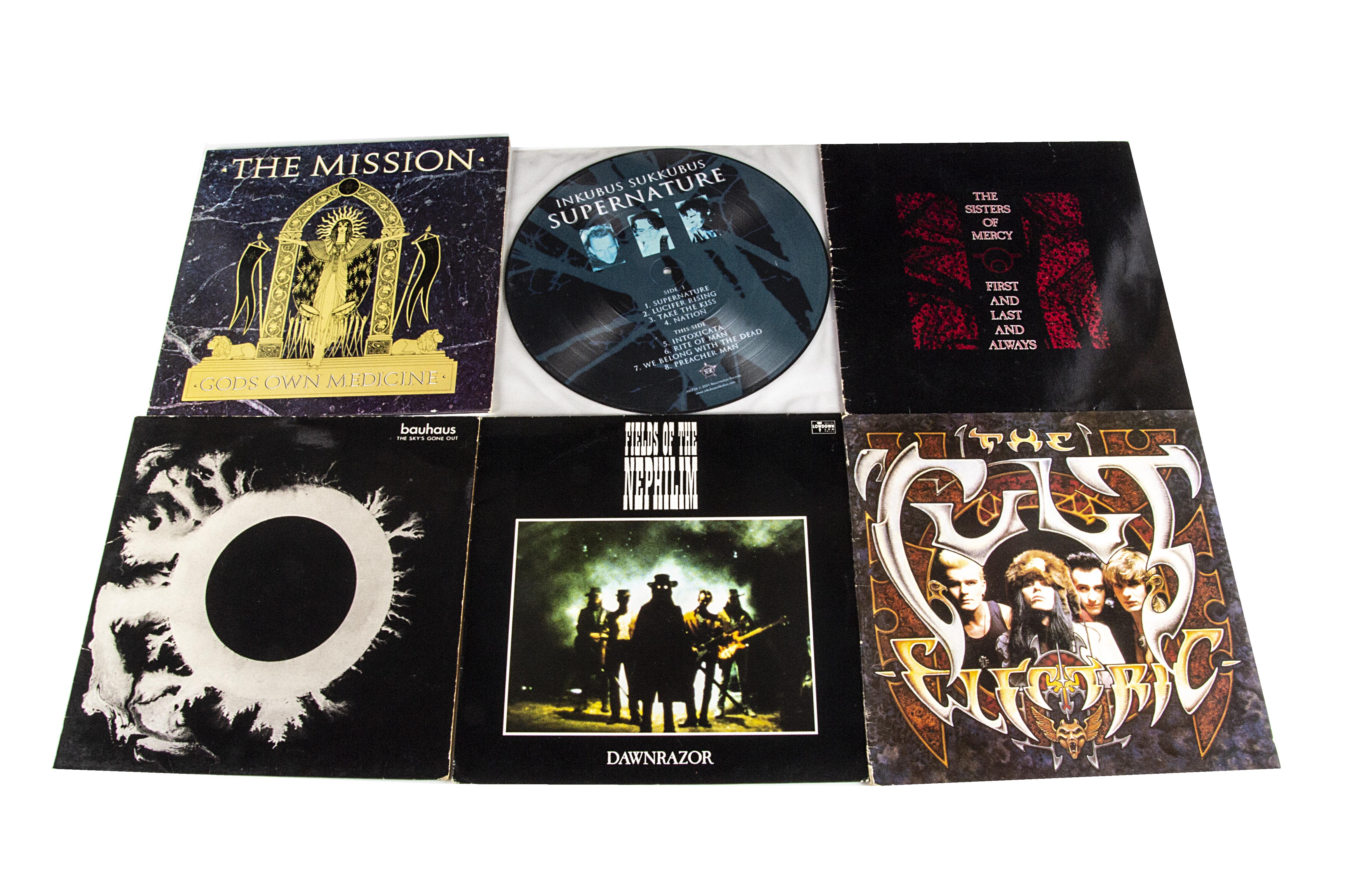 Goth Rock LPs, twenty albums of mainly Goth Rock with artists comprising Bauhaus (five albums),