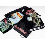 Iron Maiden Shorts / Trunks, three pairs of Iron Maiden shorts all L or LX one colourful pair, one