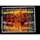 Finders Keepers UK Quad Poster, UK Quad Cinema Poster for Cliff Richards's Finders Keepers (1966),