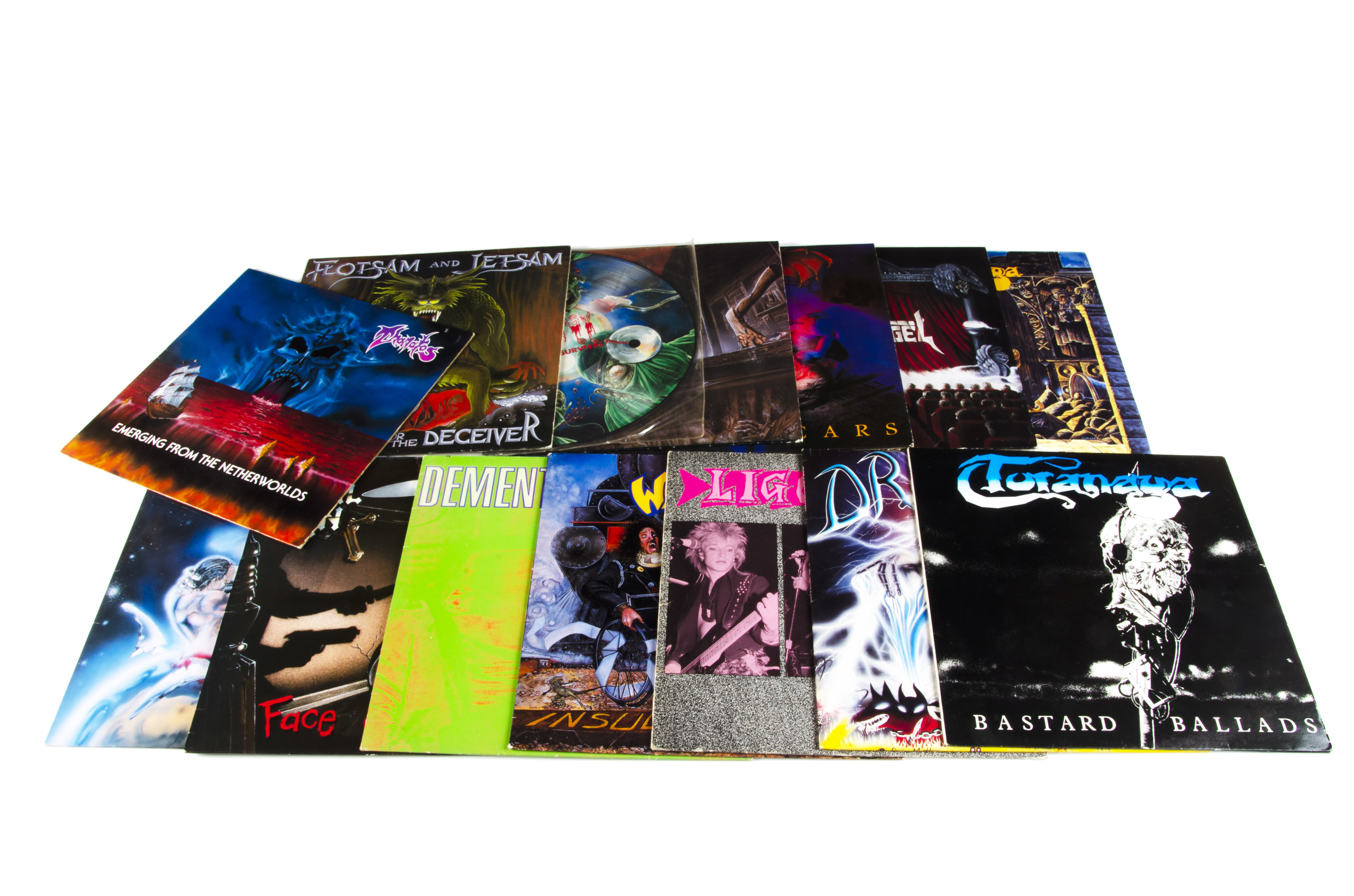 Thrash / Heavy Metal LPs, fourteen albums of mainly Thrash, Death and Heavy Metal with artists